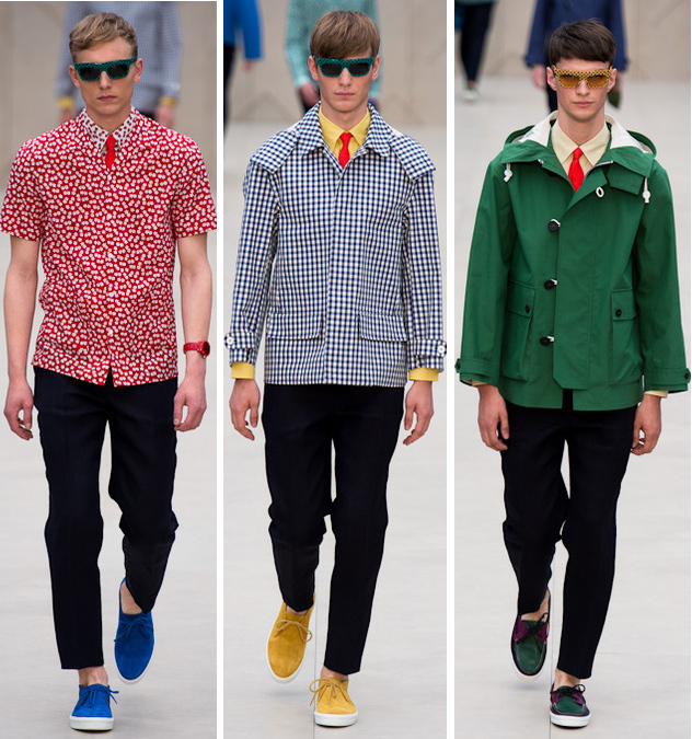Burberry mens spring 2014 floral print shirts and outerwear