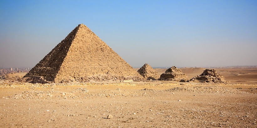 Gízai piramisok. Gíza, Egyiptom.