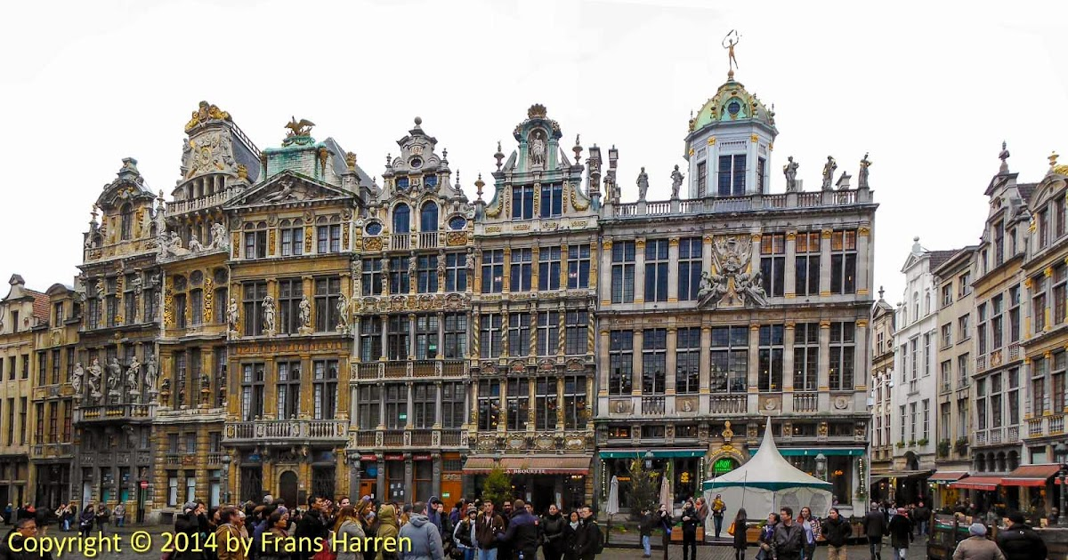 panorama of guildhalls on the grand place brussels. Black Bedroom Furniture Sets. Home Design Ideas
