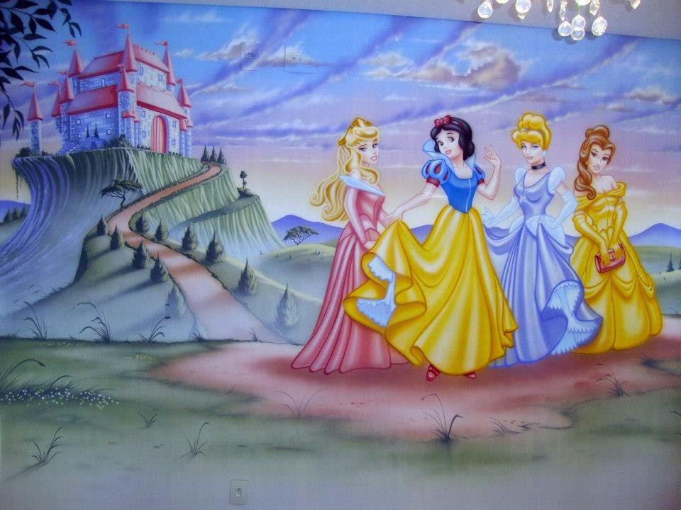 Fernando Pow Pintura em Quarto de Bebê e Criança - Princesas Disney Quarteto