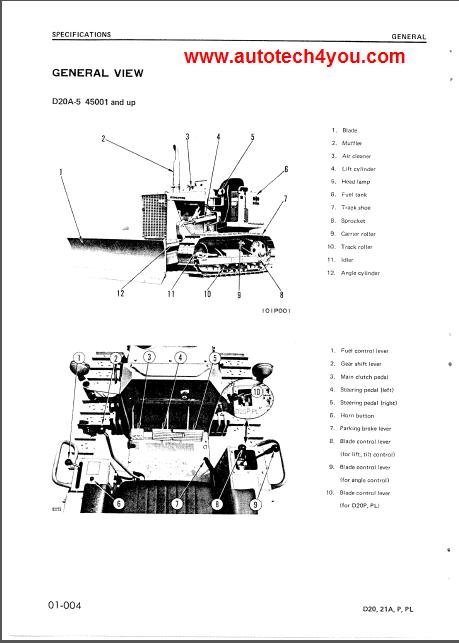 komatsu d20 21a pl-5