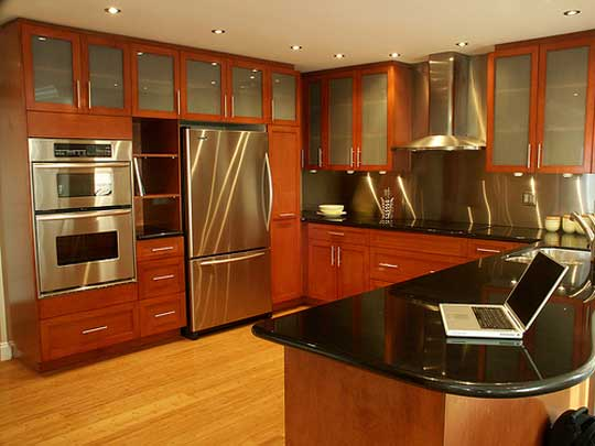 Wood design ideas new kerala kitchen cabinet styles for Oak kitchen ideas designs