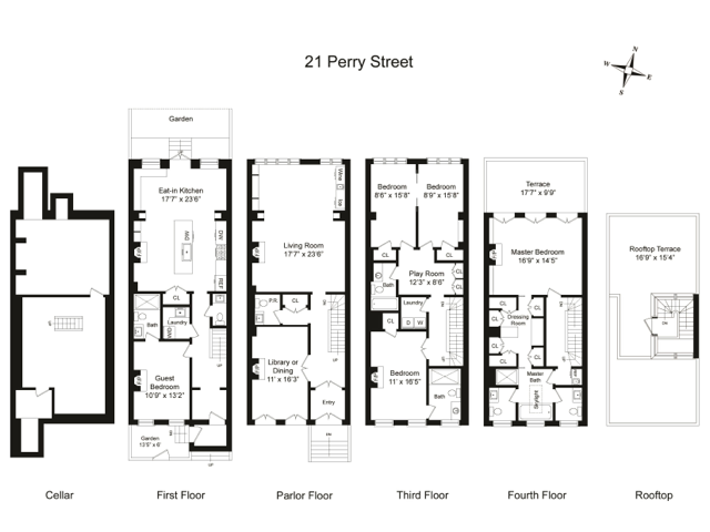 Floor plan of Steven Gambrel's home