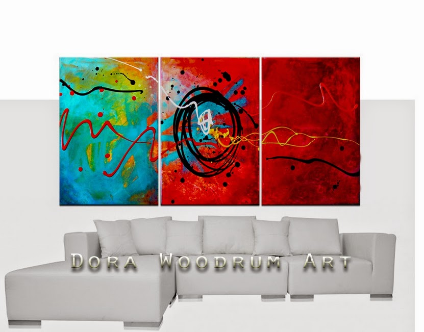"Original Abstract Painting Chemistry"" by Artist Dora Woodrum"