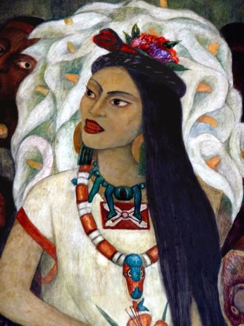 The raucous royals la malinche the slave girl who for Diego rivera la conquista mural