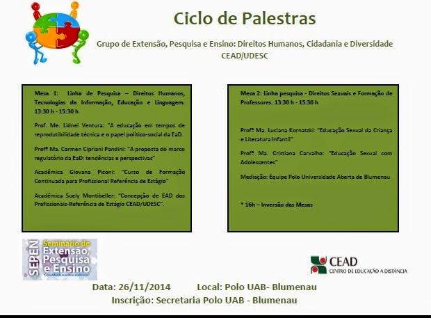 Ciclo de palestras - Participe