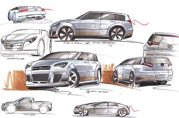 Volkswagen proporr due mini suv for Suv compatti economici