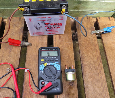 Cagiva Mito Starter motor solenoid relay testing