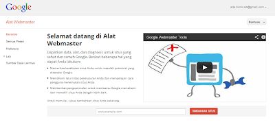 cara daftar blog di webmaster google