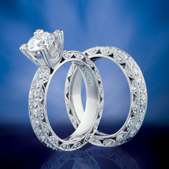 Tacori Wedding Sets Are A Por Choice For S Set Usually Comprises Both An Engagement And Custom Fit To Perfectly