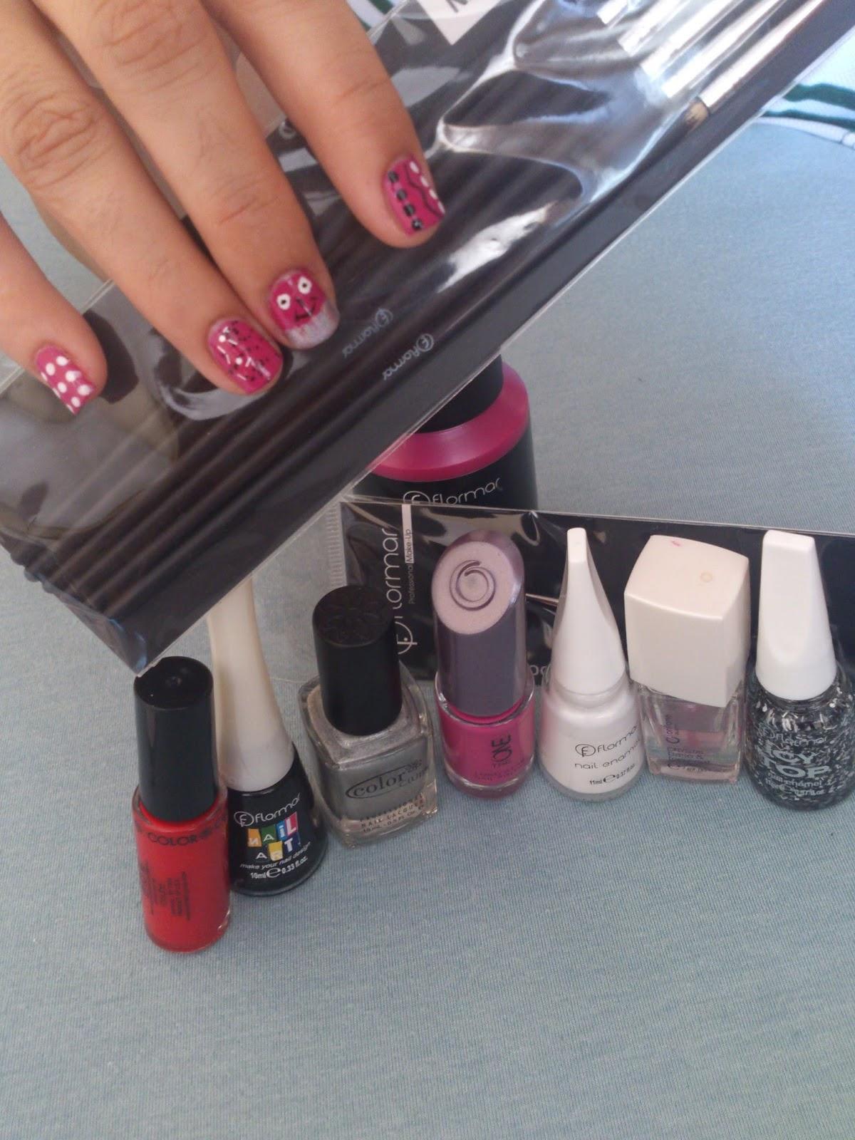 flormar - Beauty toys - Flormar nailart - Flormar nailart fırçalarını kullananlar - nailart fırçası kullanımı - flormar dotting pen - kolay nailart modelleri