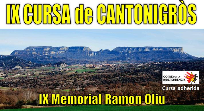 CURSA DE CANTONIGRÒS - Memorial Ramon Oliu -