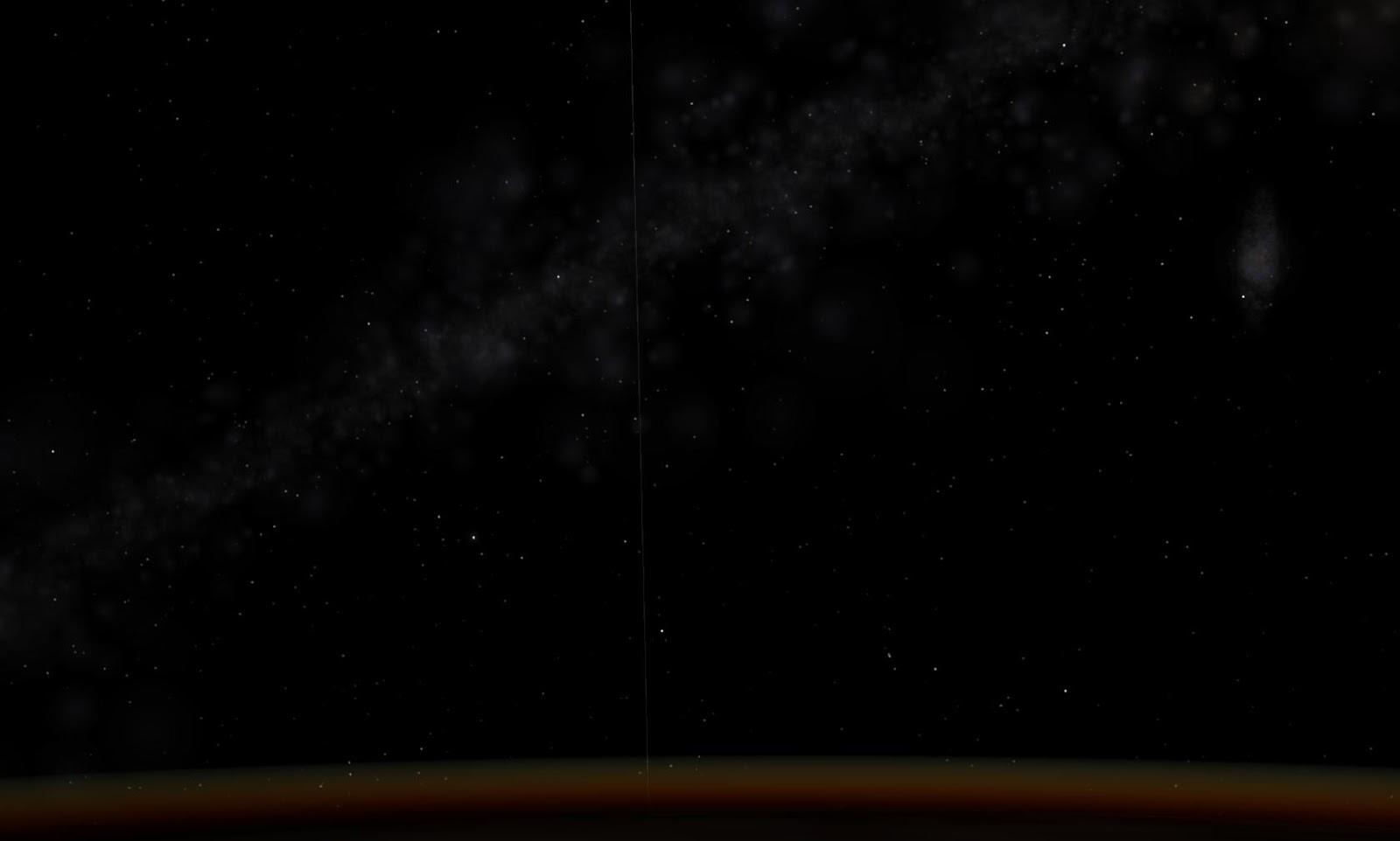 Nhìn từ trên cao và dưới thấp là đường chân trời. Tác giả : John Brady ở Astronomy Central trên mạng xã hội Reddit.