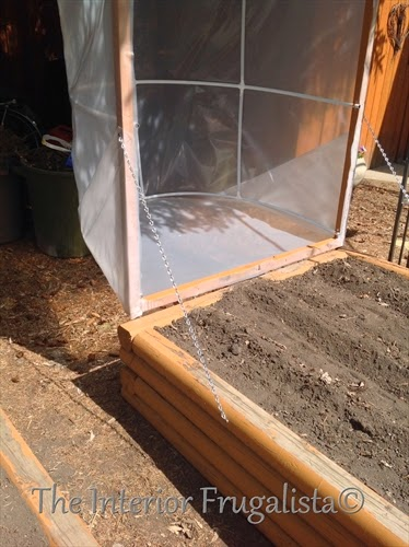 Mini greenhouses for raised beds with hinged top