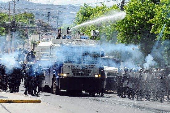 repressive forces in Honduras