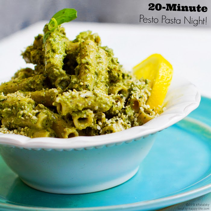 Vegetarian basil pesto pasta recipes