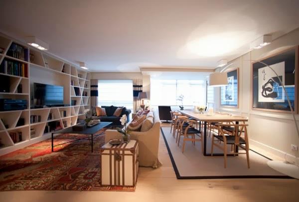 Un gran piso en bilbao a great apartment in bilbao vintage chic peque as historias de - Interiorismo salones modernos ...