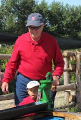 Alexandre avec Grand-papa