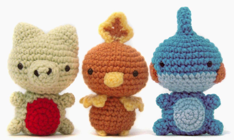 Free Amigurumi Patterns Christmas : i crochet things: Pattern: Pokemon Hoenn Starters Amigurumi