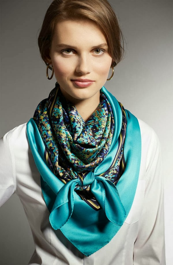 Amazing Blue Scarf, Winter-Fall Outfits