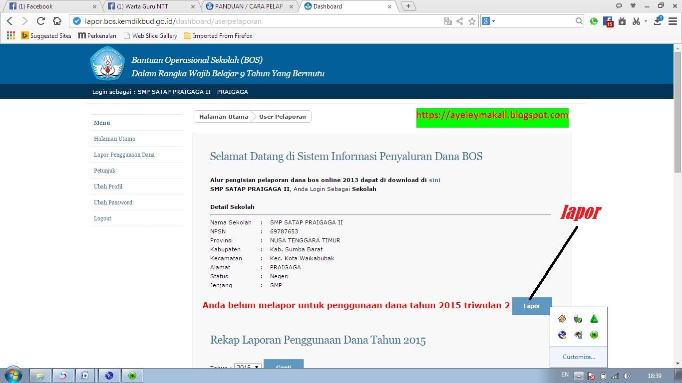 Cara Pelaporan Dana Bos Online Triwulan I Ii Iii Dan Iv