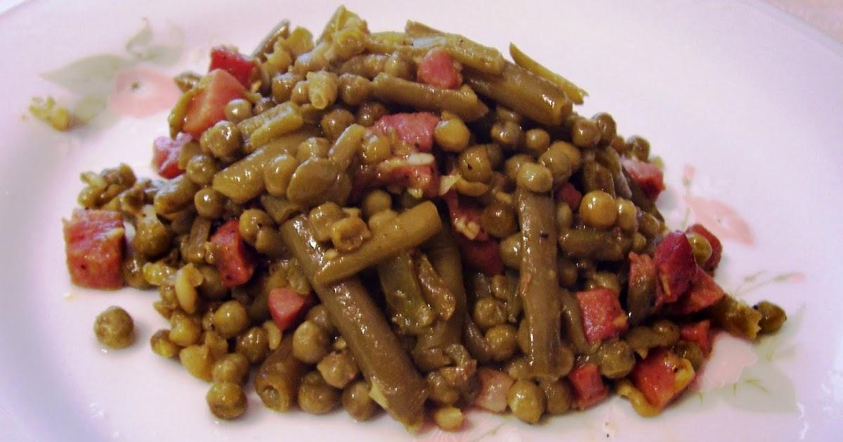Salteado de jud as verdes guisantes y jam n asopaipas for Siembra de habas y guisantes