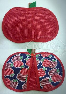 annis artesanato kit cozinha maçã