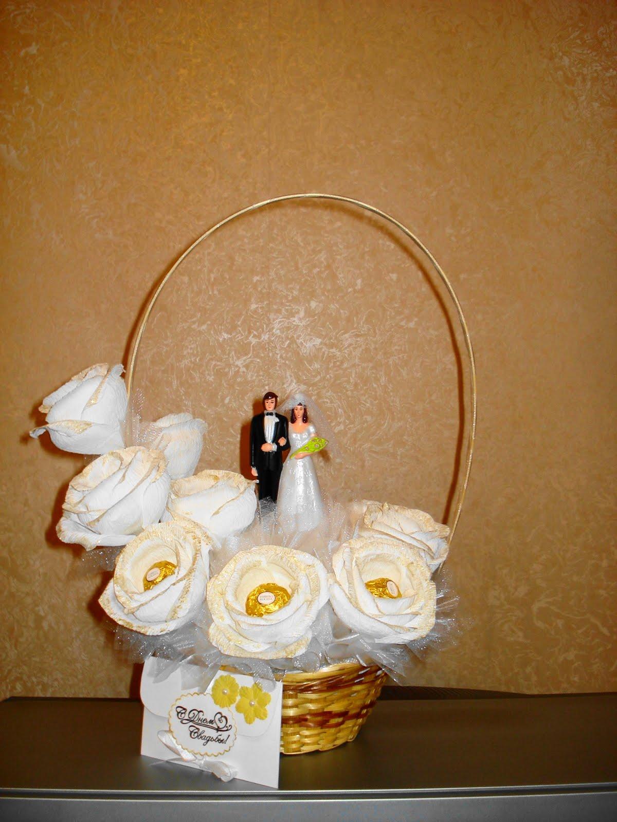 Свадебная корзинка своими руками