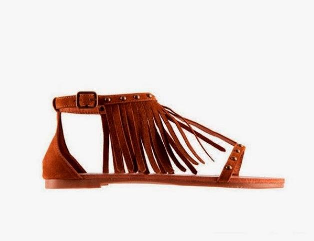 Sandalias de flecos de SuiteBlanco