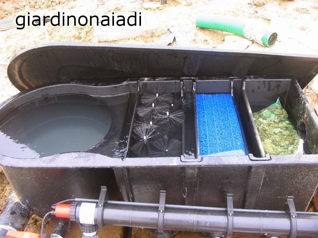 Il giardino delle naiadi filtrazione naturale e tecnica for Filtro per laghetto autocostruito