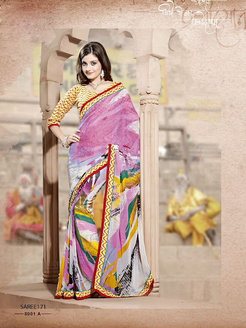 New Designer Weightless Georgette Printed Saree – Buy Online Shopping