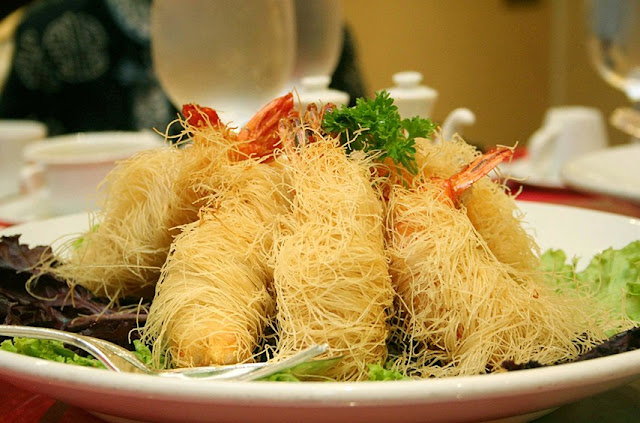 Deep-Fried Mabuhay Palace Long Life Prawns