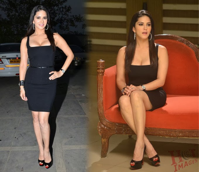 sunny leone cleavage hot photos