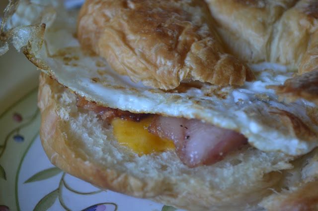Making Miracles: Toasted Croissant Breakfast Sandwiches
