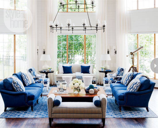 Mix and chic home tour a gorgeous nautical inspired for Symmetrical interior design