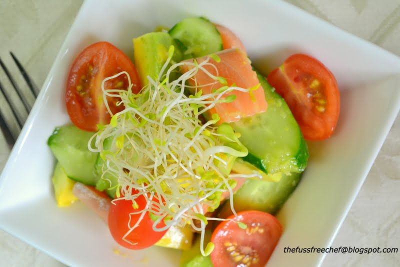 sashimi salmon and avocado salad 1 2 a ripe avocado