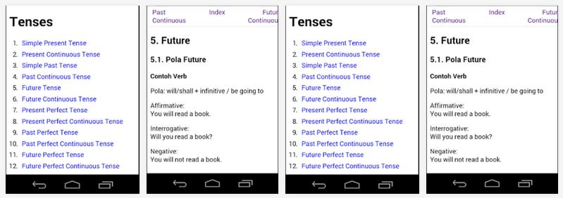 Belajar Grammar dan Tense Bahasa Inggris di Android