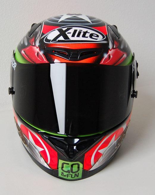 racing helmets garage x lite x 802r b staring 2013 by bargy design. Black Bedroom Furniture Sets. Home Design Ideas