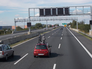 European Highways  are akin to race-tracks :- The highway in Czechoslovakia.