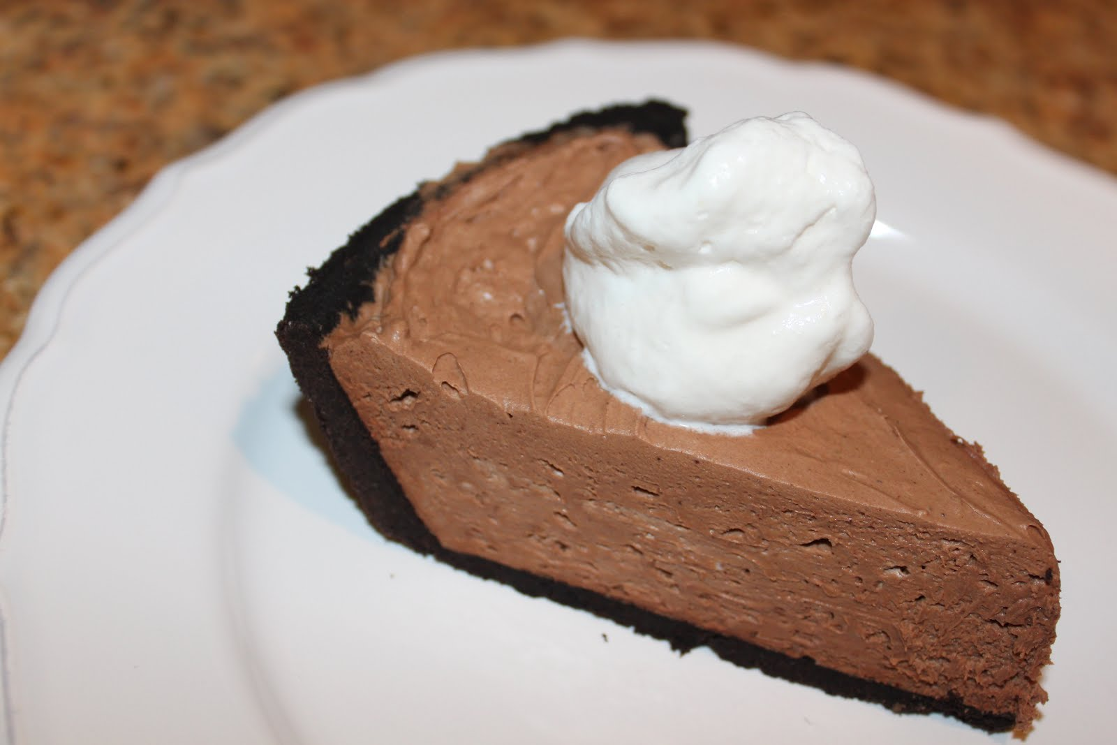 CARRIE'S COOKING CORNER: No-Bake Chocolate Cheesecake