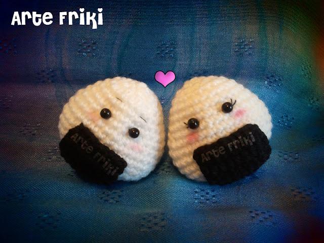 onigiri amigurumi crochet ganchillo comida japonesa