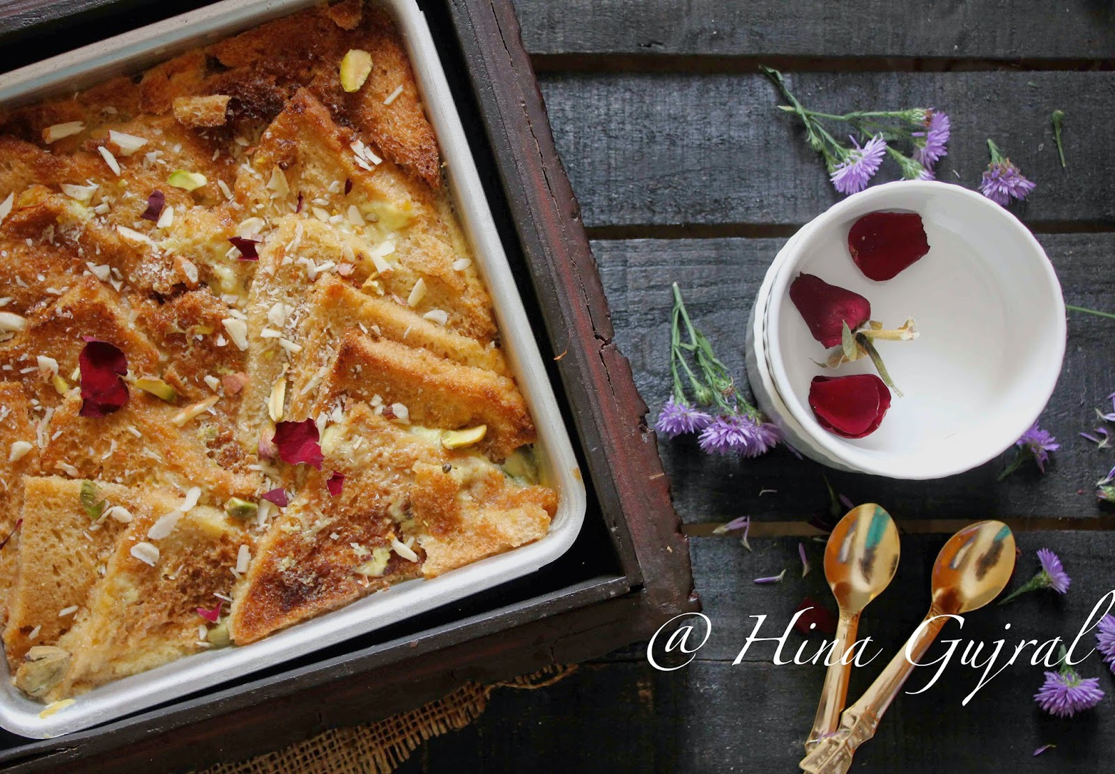 Double ka Meetha is a delicious Mughlai dessert. Find easy and delicious recipe of Mughlai dessert Double Ka Meetha aka bread pudding