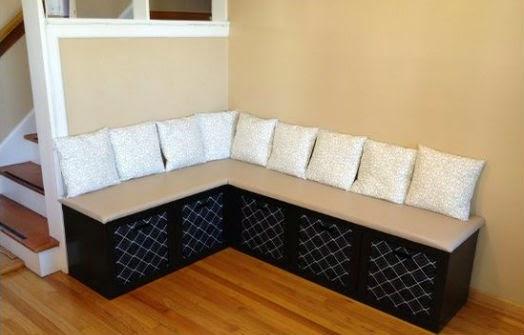 Кухонный диван с подушками своими руками