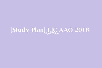 Study Plan LIC AAO 2016