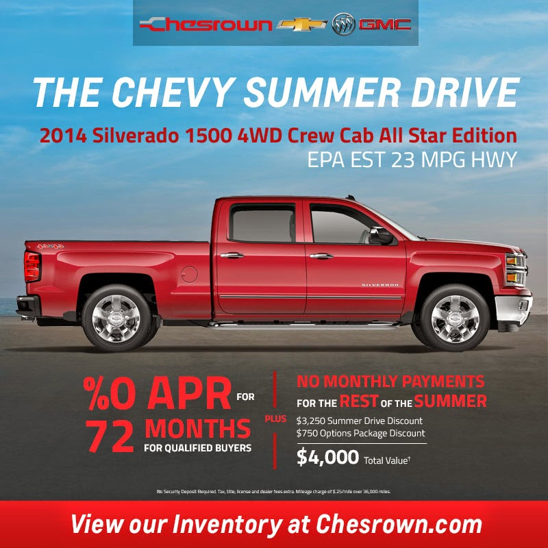The Chevy Summer Drive at Chesrown Autos