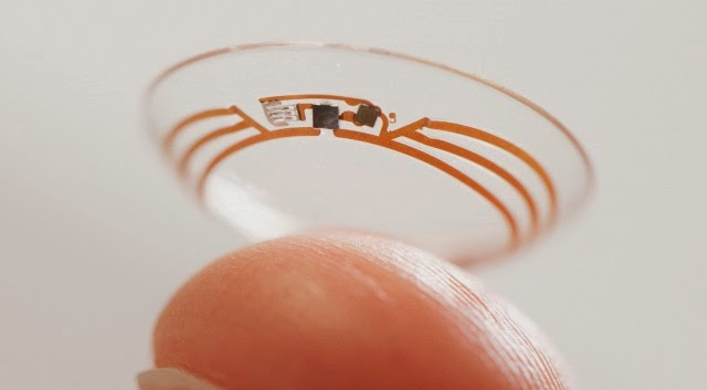 google smart contact lens glucose sensor