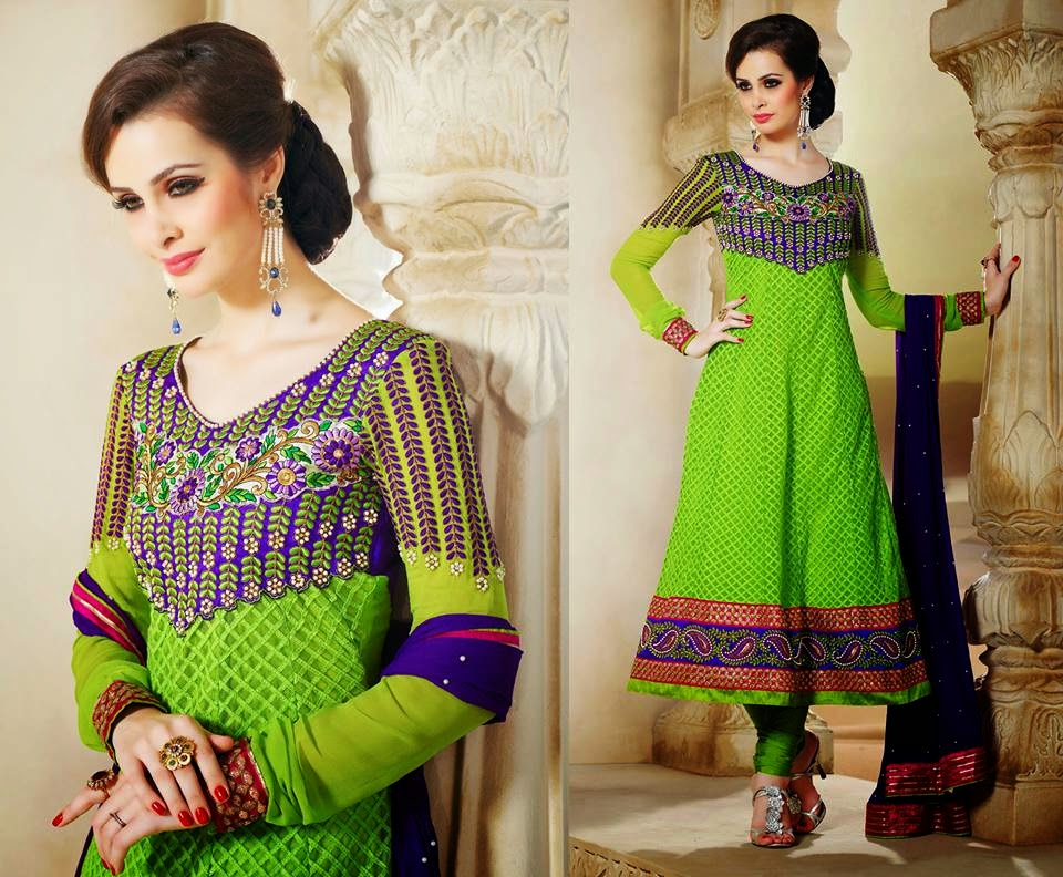 Indian Anarkali frocks 2014
