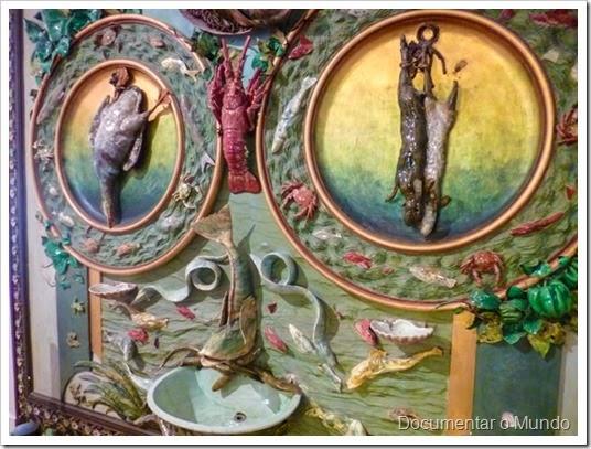 Fonte-lavatório; Rafael Bordalo Pinheiro; estilo naturalista; Palácio Beau Séjour; Gabinete de Estudos Olisiponenses