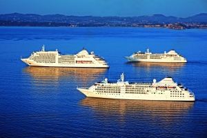 Silversea Cruises Silver Cloud, Silver Wind and Silver Spirit Rendezvous in Corfu
