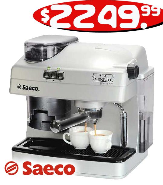Cafetera express saeco via veneto combi deluxe
